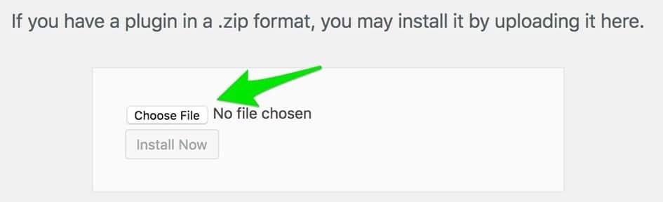 اضغط على Choose File إضافة All In One SEO Pack المدفوعة