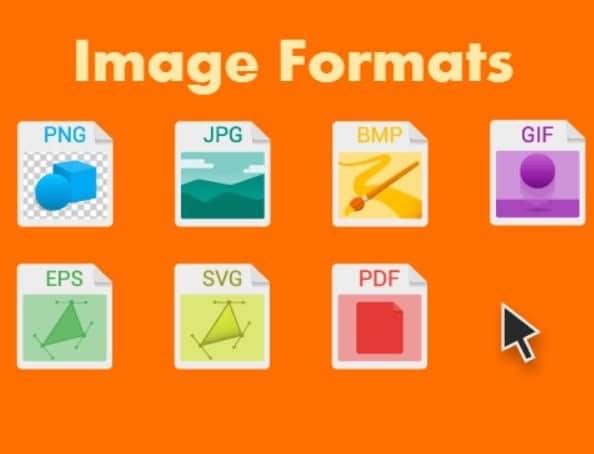 الفرق بين صيغ الصور المختلفة GIF JPG PNG SVG WebP