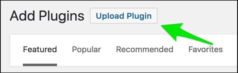 بالنقر على Upload Plugin