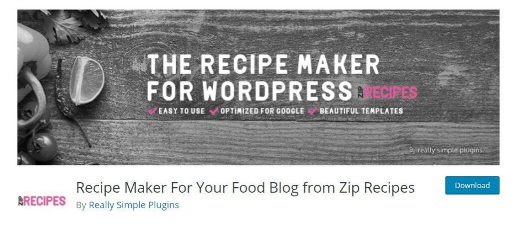 5 – إضافة Zip Recipes