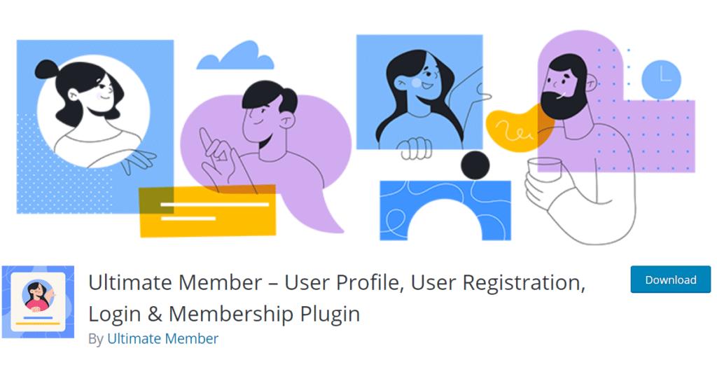 إضافة Ultimate Members – أكثر من 70 ميزة لإنشاء الملفات الشخصية والعضويات