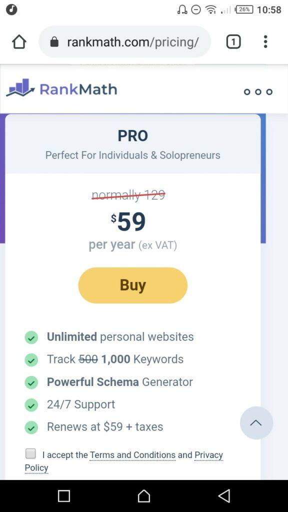 3 إلى خانة Pro واضغط على Buy