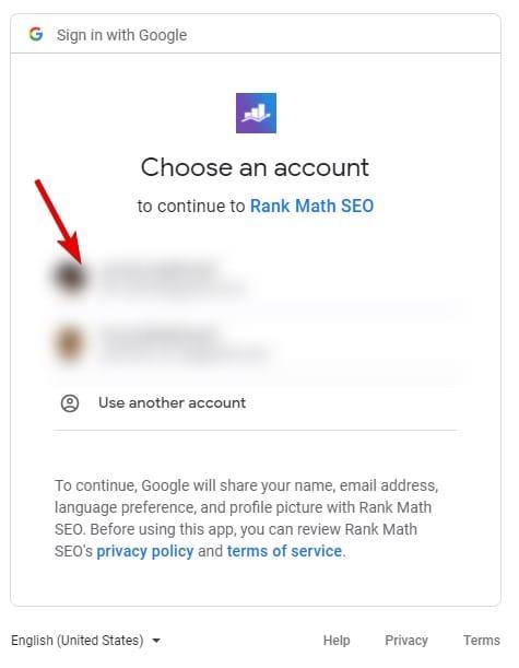 4 – ربط الإضافة بحساب Google