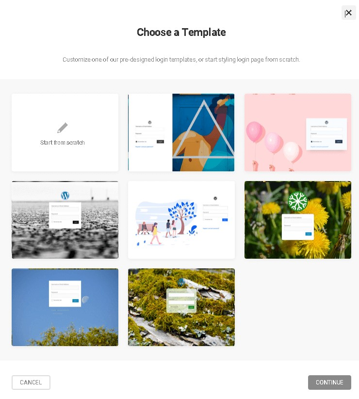 8 يمكنك تخصيص هذه الصفحة بالكامل من الصفر أو اختيار قالب جاهز كما هو واضح في الصورة.