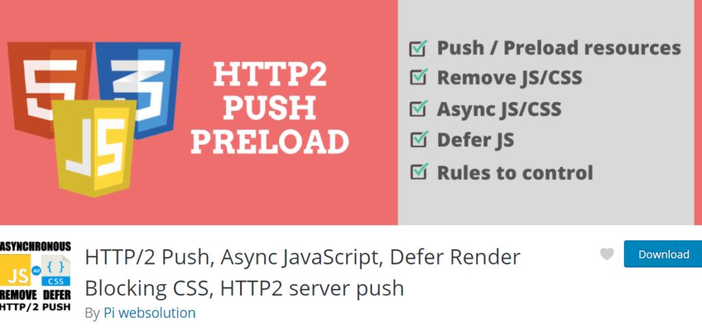 إضافة HTTP2 Push - Async JavaScript - Defer Render Blocking CSS - HTTP2 server push