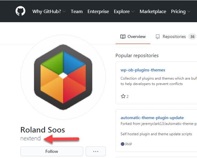 إضافة Nextend social login مفتوحة المصدر على موقع Github