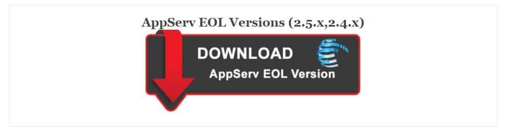 يحتوي على جميع النسخ القديمة والتي توقف دعمها برنامج AppServ