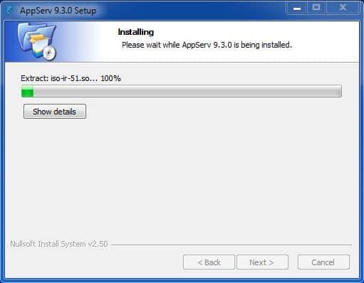 10 مباشرةً ستبدأ عملية التنصيب برنامج AppServ