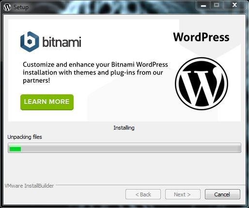 13 تبدأ عملية التنصيب برنامج BITNAMI WORDPRESS STACK