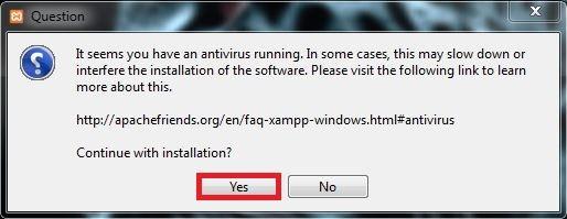 3 برنامج مكافحة الفيروسات يعمل برنامج XAMPP
