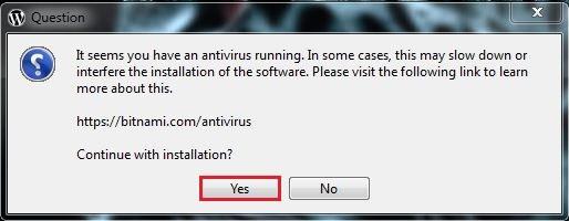 4 برنامج مكافحة الفيروسات قيد العمل برنامج BITNAMI WORDPRESS MULTISITE