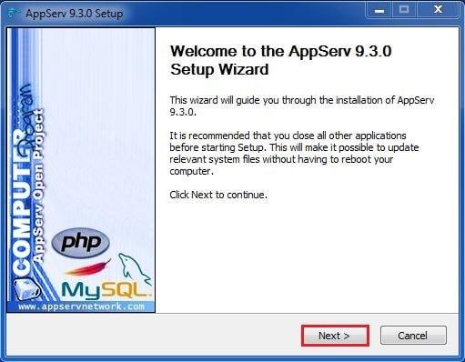 4 نضغط على Next برنامج AppServ