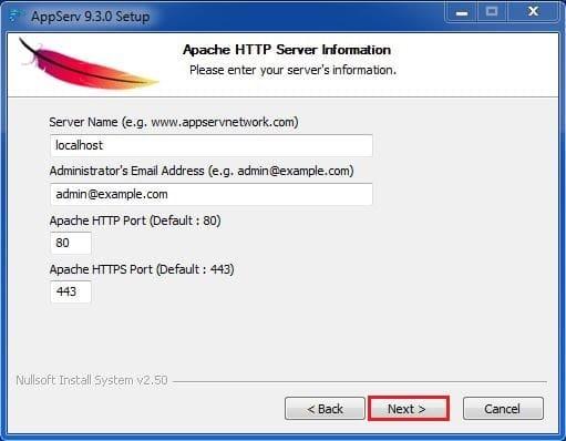 8 خيارات السيرفر المحلي برنامج AppServ