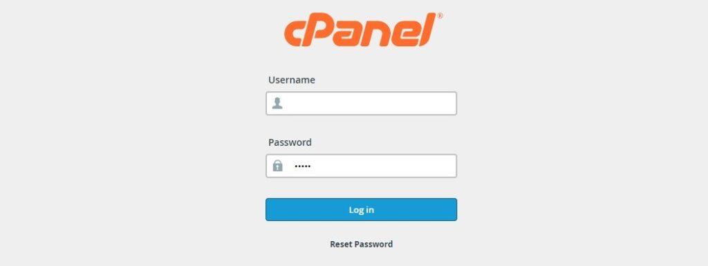 9 لوحة تحكم الاستضافة باسم المستخدم وكلمة المرور ي