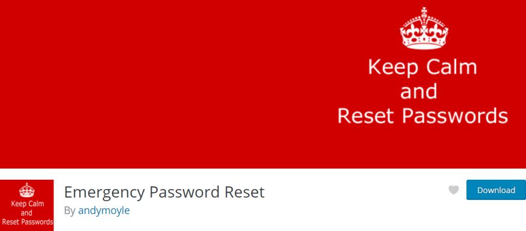 Emergency Password Reset wordpress plugin