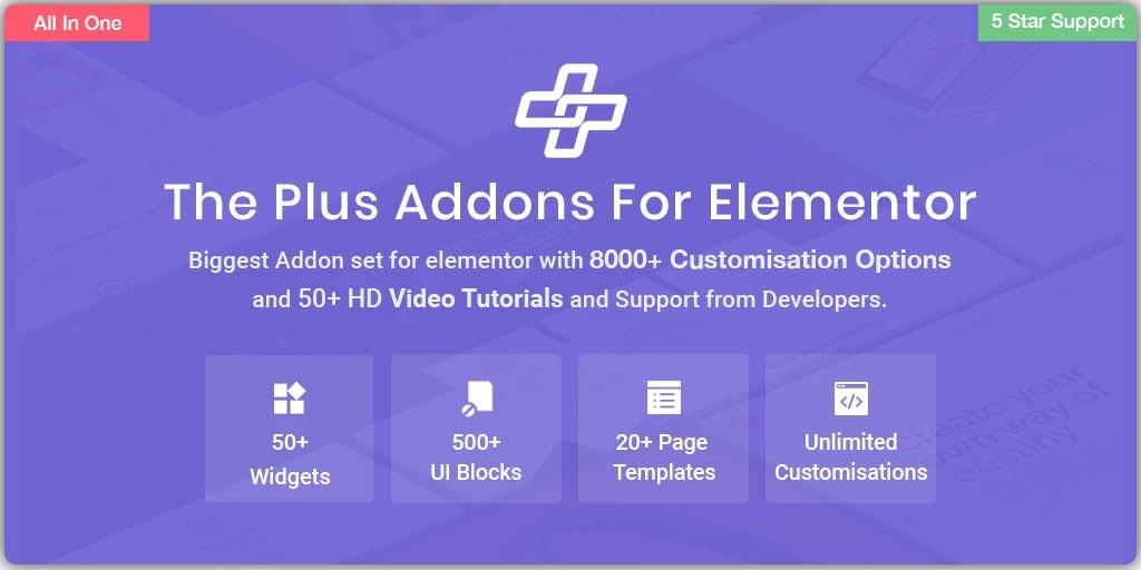 إضافة Plus Addons التابعة لـ Elementor