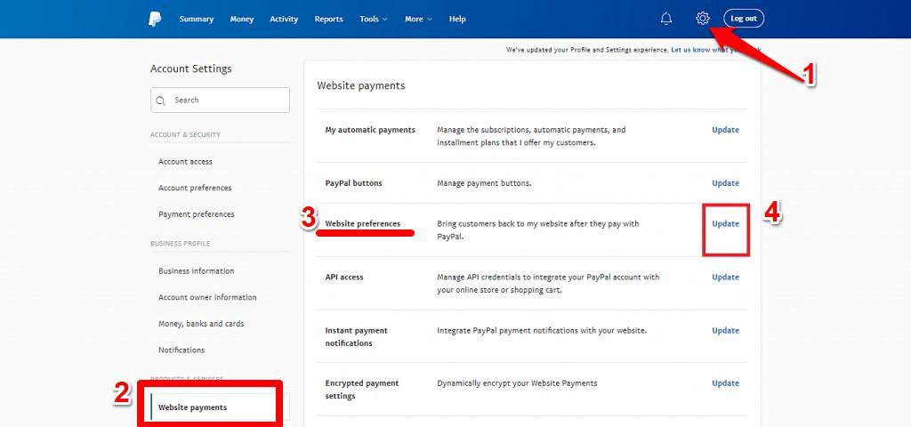 5 التعريفي لبايبال Paypal Identity Token