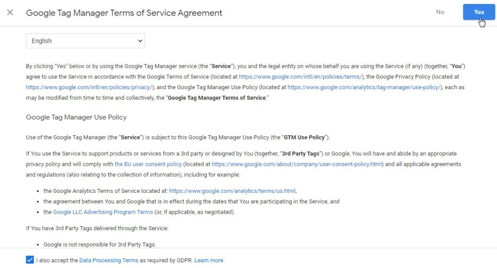 11 4 – إثبات ملكية موقع ووردبريس بطريقة Google Tag Manager