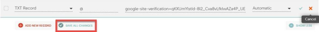 11 5 – إثبات ملكية موقع ووردبريس بطريقة موفّر النّطاق (Domain Name Provider)