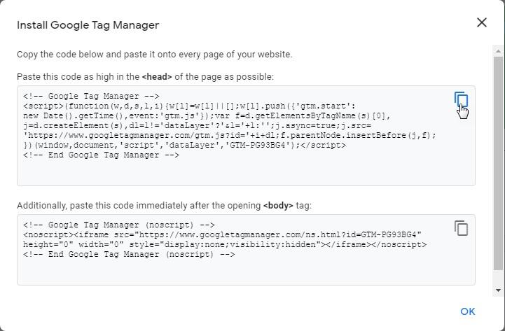 12 4 – إثبات ملكية موقع ووردبريس بطريقة Google Tag Manager