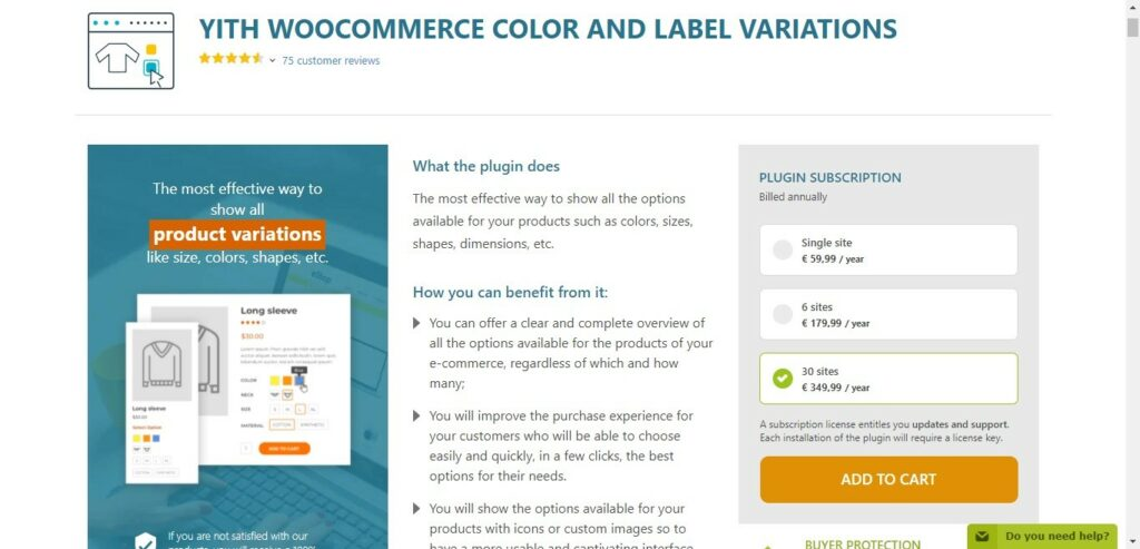 14 1 – YITH WOOCOMMERCE COLOR AND LABEL VARIATIONS