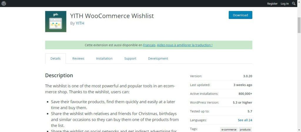 18 2 – YITH WooCommerce Wishlist
