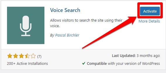 إضافة Voice Search 1