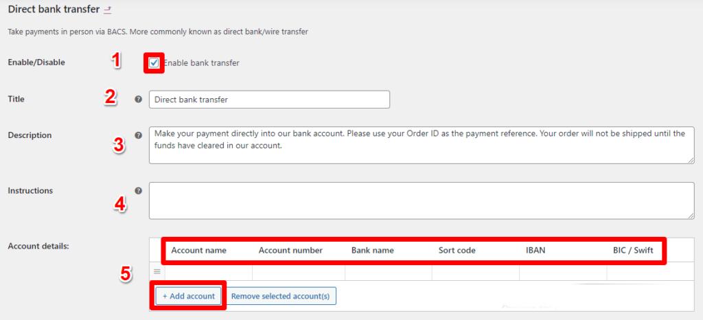 التحويل المباشر للبنك Direct Bank Transfer 3