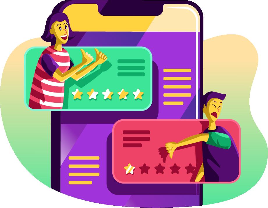 النظر إلى تقييمات المستخدمين السابقين قبل الشراء