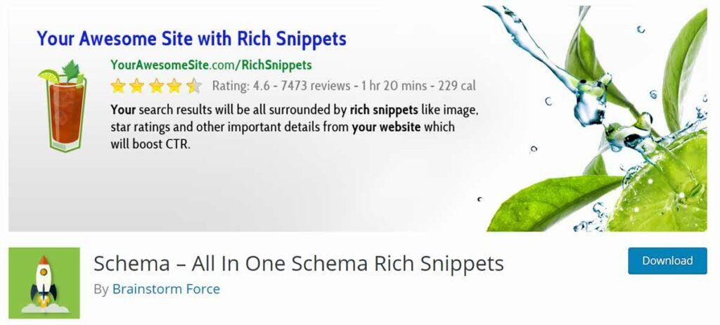 إضافة All In One Schema Rich Snippets