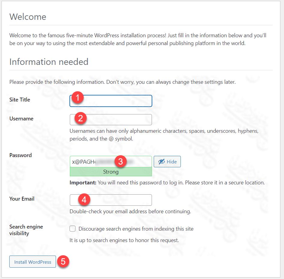 بيانات الموقع اسم الدخول وكلمة المرور