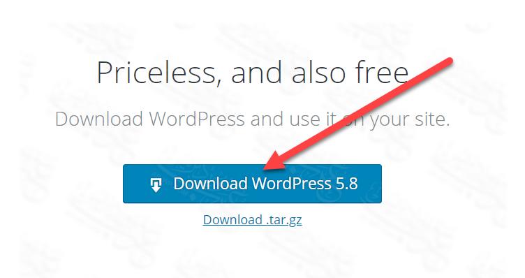 تحميل ووردبريس على الحاسوب - download wordpress