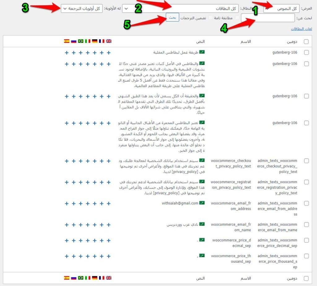تحديد النصوص التي سوف تقوم بترجمتها بواسطة إضافة WPML String Translation