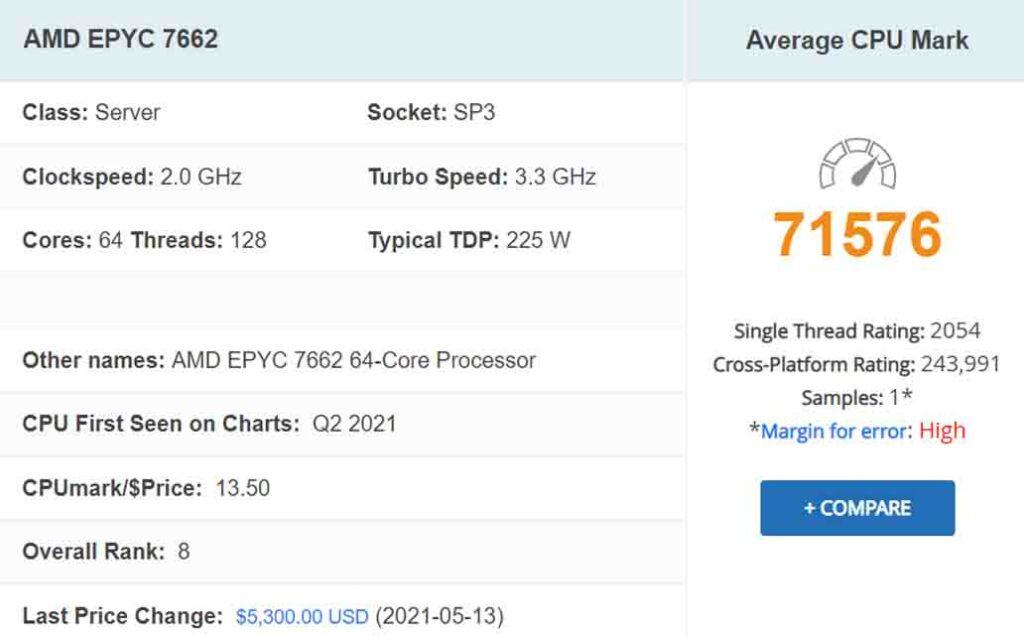 معالج AMD EPYC 7662