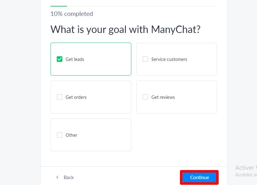 أهدافك من استخدام manychat