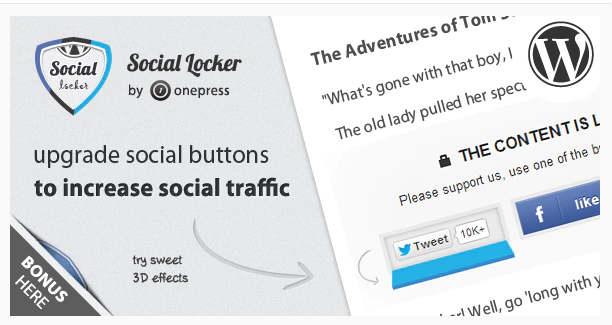 إضافة OnePress Social Locker