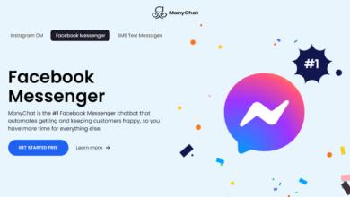كيفية إضافة ماسنجر الفيسبوك بوت باستخدام ماني شات