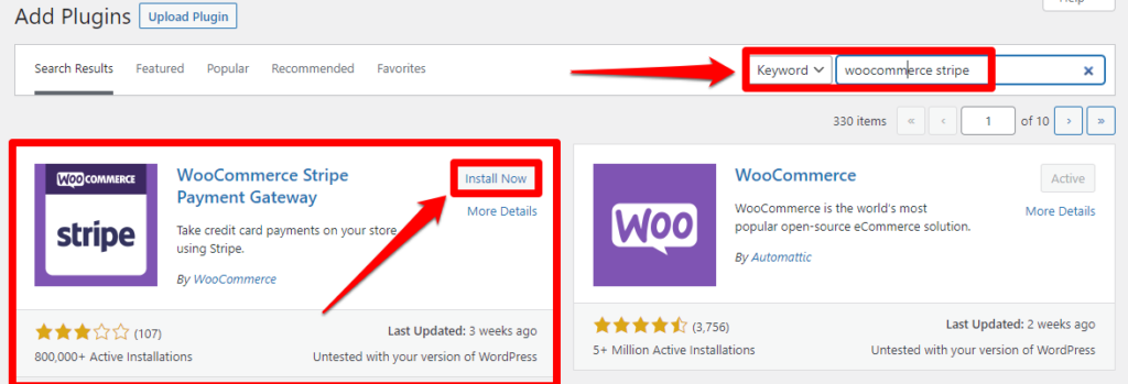 1 – تثبيت WooCommerce Stripe Payment Gateway