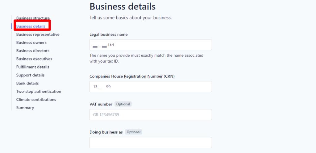 2 – تفاصيل عن تجارتك Business details