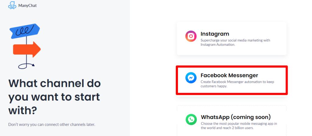5 - manychat - facebook messenger