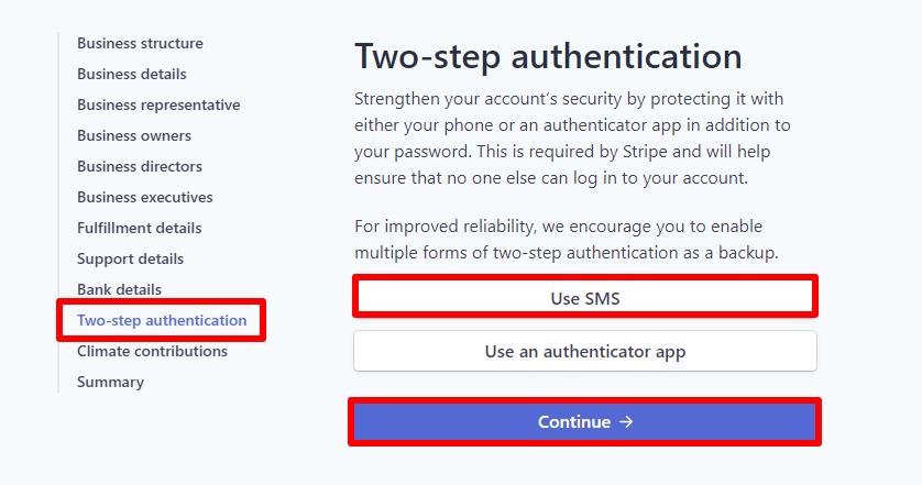 8 – مصادقة الحساب بخطوتين Two-step authentication