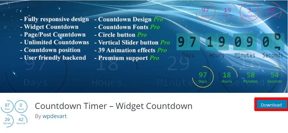 Countdown Timer - Widget Countdown