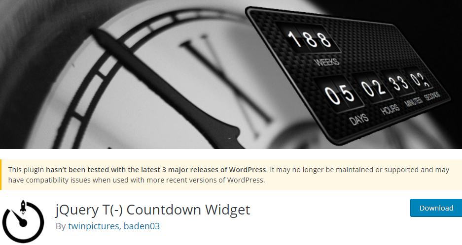 jQuery T(-) Countdown