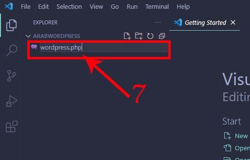 visual stdio code - create a php file