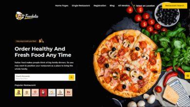 قالب Foodota لمواقع توصيل الطعام دليفري على الووردبريس