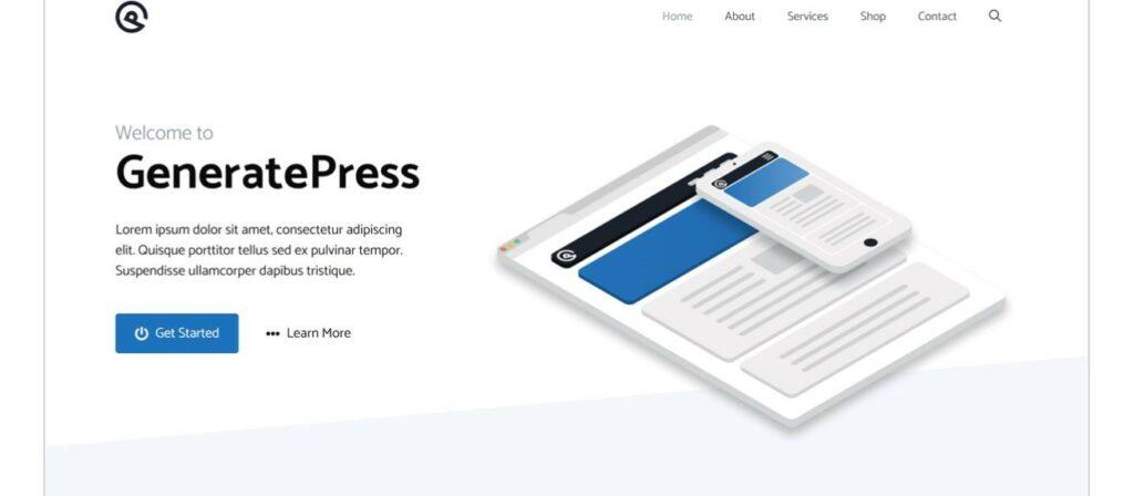 2 – قالب GeneratePress
