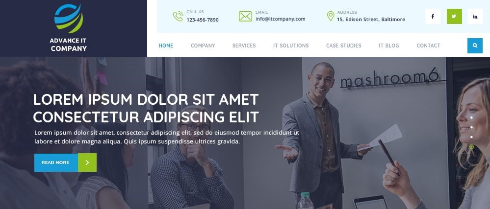 3 – قالب Advance IT Company