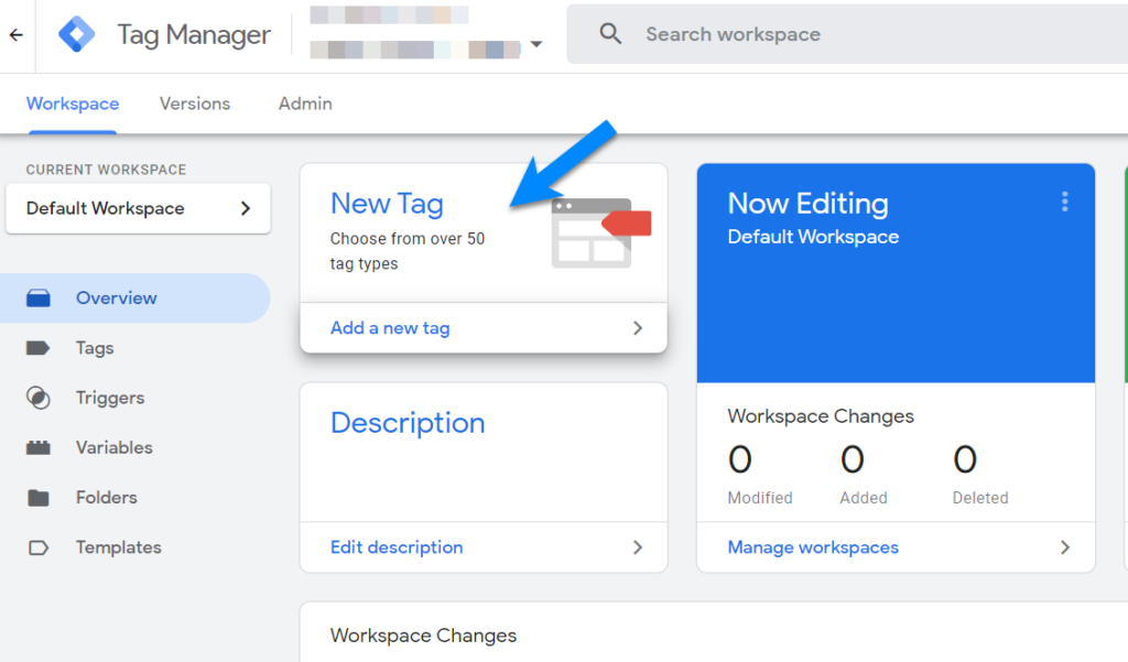 add new tag to google tag manager
