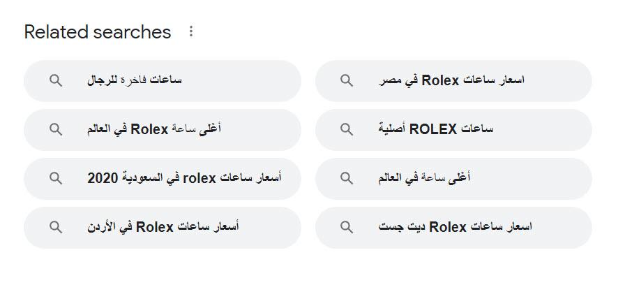 كلمات ذات صلة في محركات البحث