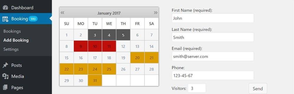 إضافة Booking Calendar